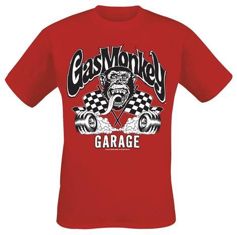 Gas Monkey Garage Burning Wheels T-paita punainen