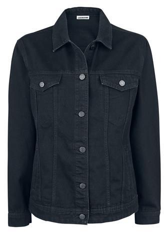 Noisy May Ole Black Denim Jacket Naisten Farkkutakki musta