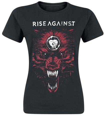 Rise Against New Wolf Naisten T-paita musta