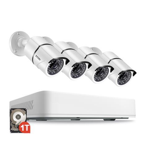 ZOSI Övervakningssystem 2560X1920P IP67 4 Kameror 3TB