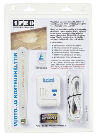 1PRO Vesivuoto- ja kosteushälytin