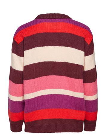 Saint Tropez Block Stripes Sweater Punainen