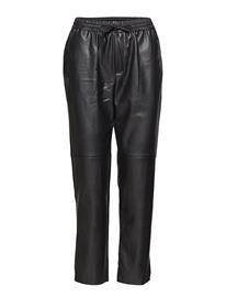Mango Adjustable Waist Trousers Musta