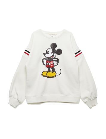 Mango Kids Mickey Mouse Sweatshirt Valkoinen