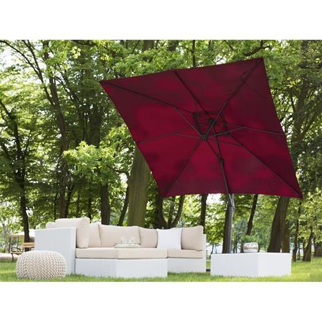 Beliani Päivänvarjo burgundi 250x250x235 cm MONZA