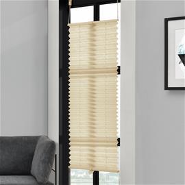 [neu.haus] Taiteverho / pliseerattu verho - 75 x 150 cm - kermanvärinen - aurinkosuojaverho - pimennysverho - ilman porausta