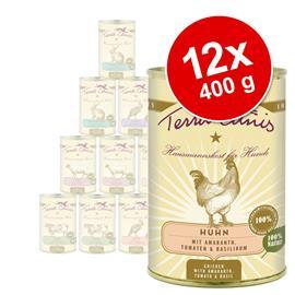 Terra Canis -sekoituspakkaus, 12 x 400 g - Menu, 6 makua