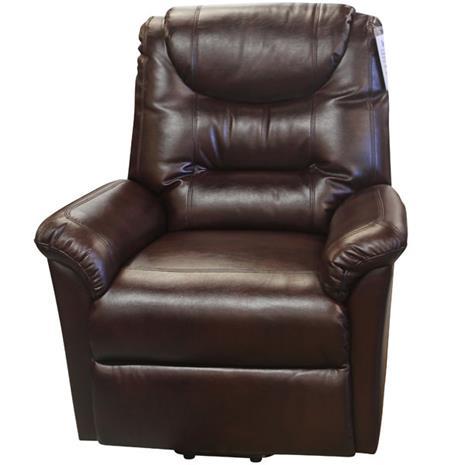 Pavia lift up nojatuoli, häränveren värinen nahkaa muistuttava kangas