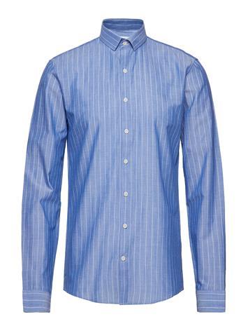 Lindbergh Striped Shirt L/S Sininen