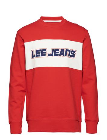 Lee Jeans Easy Blocking Crew Punainen