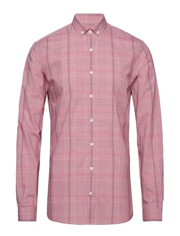 Lindbergh Checked Shirt L/S Vaaleanpunainen