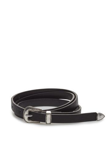 Mango Cowboy Style Belt Musta