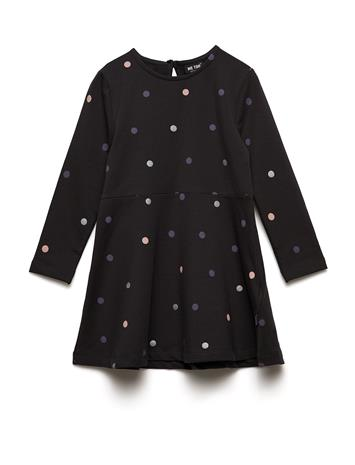 MeToo Dress Ls Sweat Dot Sininen