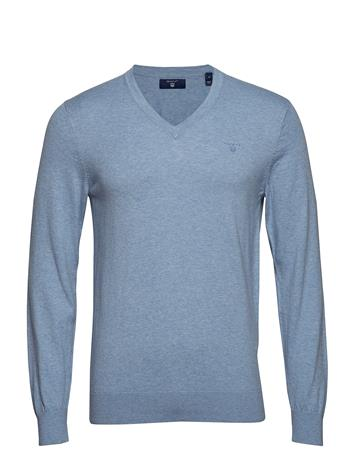 GANT O2. Cotton Cashmere V-Neck Sininen