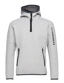 J. Lindeberg Ski M Logo Hood Tech Sweat Valkoinen