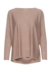 Davida Cashmere Lady Big Slit Sweater Vaaleanpunainen