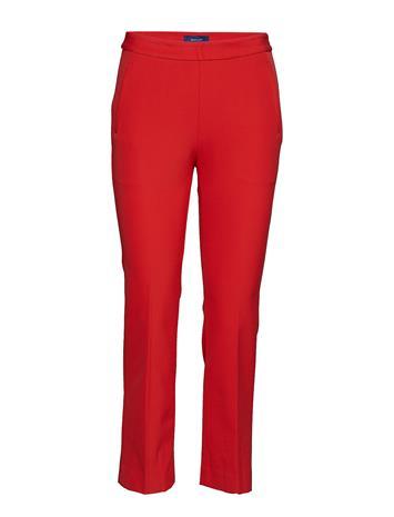 GANT O1. Straight Cropped Pant Punainen