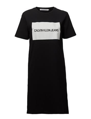 Calvin Klein Jeans Institutional Box Logo T-Shirt Dress Musta