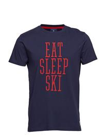 GANT O1. New Graphic Ss T-Shirt Sininen