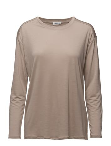 Filippa K Long Sleeve Swing Top Beige