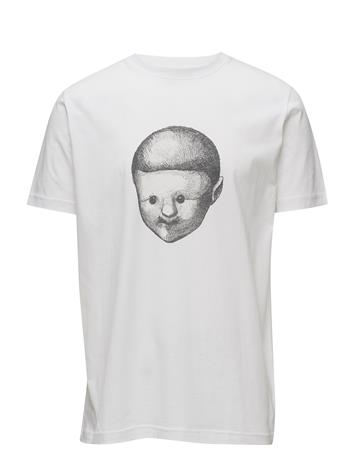 Tonsure Tee With Placement Boy Face Print Valkoinen
