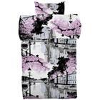 Vallila Aurajoki pussilakanasetti 150 x 210 cm violetti