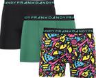 Frank Dandy SO 3-P BOXER M DK GREEN/BLK/BLK