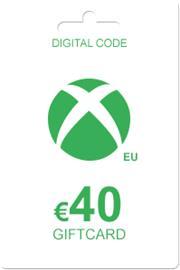Xbox Live lahjakortti 40 euroa