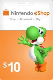 Nintendo E-Shop lahjakortti, 10 USD