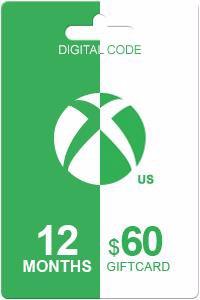 Xbox Live Gold 12 kk + 60 USD
