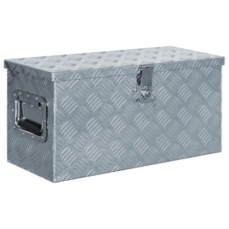 vidaXL Alumiinilaatikko 61,5x26,5x30 cm hopea