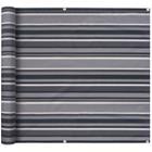 vidaXL Parvekkeen suoja Oxford-kangas 90x400 cm Raidallinen harmaa
