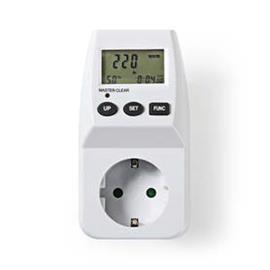Energiankulutusmittari digitaalinen 3600 w valkoinen