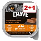 Crave Adult Patä© 3 x 300 g: 2 + 1 kaupan päälle! - 3 x 300 g, 3 makua