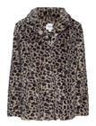 Saint Tropez Leopard Faux Fur Jacket Ruskea