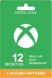 Xbox Live Gold 12 kk + 25 EUR
