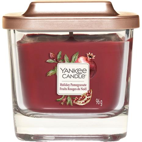 Yankee Candle Holiday Pomegranate - Small Square Vessel 96 g