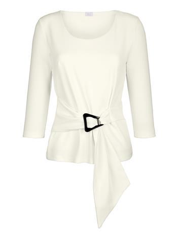 """Alba Moda"""" """"Koristesoljellinen paita Valkoinen"""