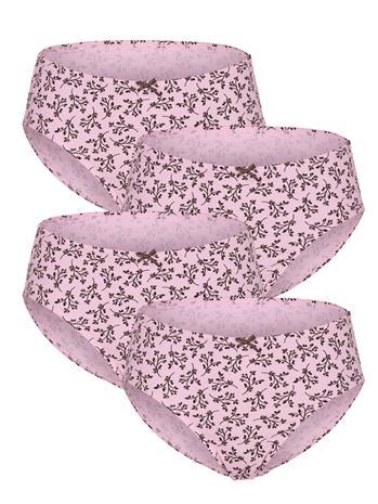 """Simone """"Satiinirusetilliset alushousut 4x roosa/bordeaux"""""""