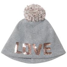 G Pf Pom Hat B10 Grey Heather