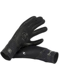 Rip Curl Flashbomb 3/2 5 Finger Gloves black Miehet