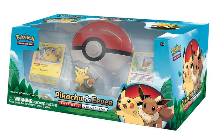 Poke Box Pikachu & Eevee PokeBall Box