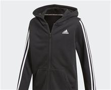 adidas Boys Front Zip 3 Stripe Hoodie