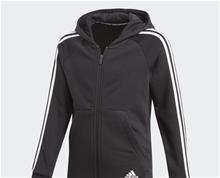 adidas 3 Stripe Girls Front Zip Hoodie