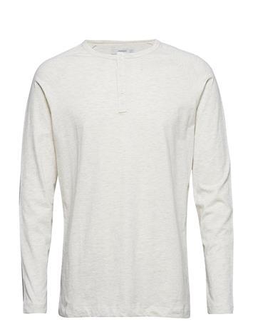 Mango Man Henley Cotton T-Shirt Valkoinen