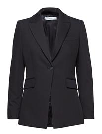 Mango Structured Suit Blazer Musta