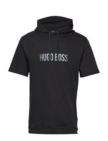 BOSS Business Wear Fashion T-Shirt Hood Musta