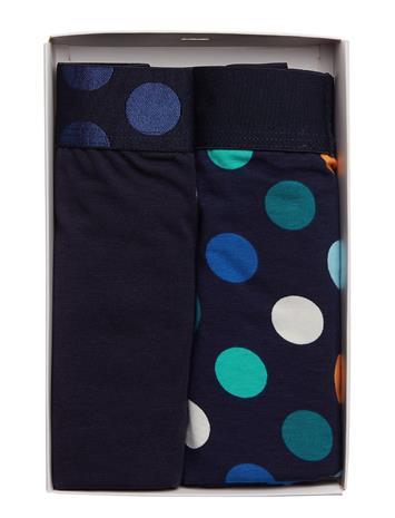 Happy Socks 2-Pack Big Dot Trunk Sininen