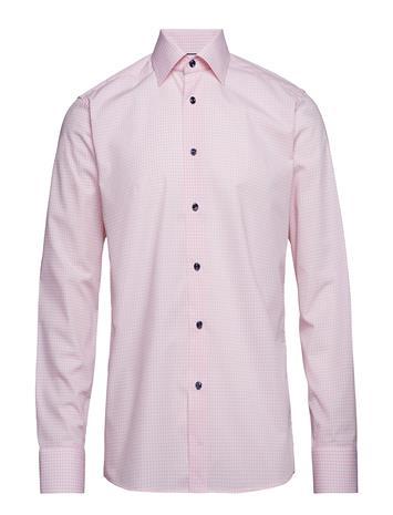 Eton Blue Check Shirt - Embroidery Vaaleanpunainen