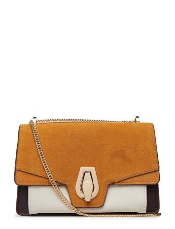 Mango Leather Flap Bag Oranssi